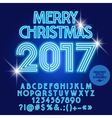 Modern light up Merry Christmas 2017 greeting card vector image vector image