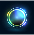 neon colorful circle modern design vector image
