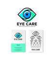 ophthalmology clinic flat logo eye care emblems vector image