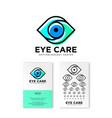 ophthalmology clinic flat logo eye care emblems vector image vector image