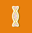 paper sticker on stylish background dna vector image vector image