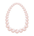 pearl necklace mockup realistic style vector image