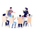people meeting psychotherapy training business vector image vector image