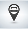 pinpoint hotel accommodation map point isolated vector image vector image