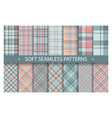 plaid pattern seamless ornate set soft background vector image