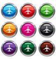plane set 9 collection vector image