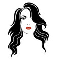 portrait a girl head a beautiful girl face vector image vector image
