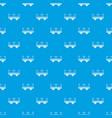 retro arch bridge pattern seamless blue vector image vector image