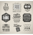 Retro labels and typography vector image vector image