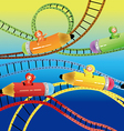 Riding roller coasters vector image vector image