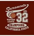 Sacramento Basketball t-shirt vector image vector image