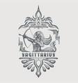 sagittarius zodiac vintage vector image vector image