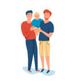 same sex couple handsome men holding their son vector image vector image