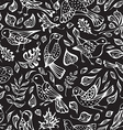 seamless pattern of birds and leaves vector image vector image