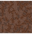 Seamless pattern with coffee beans vector image vector image
