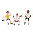 set characters soccer player vector image vector image
