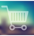 shopping icon on blurred background vector image vector image