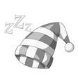 sleeping cap icon monochrome vector image vector image