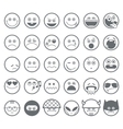 Smiley emoticon line icons set vector image vector image
