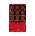 sweet chocolate bar vector image vector image