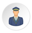 Train driver icon cartoon style vector image vector image