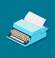 typewriter mechanic isometric vector image vector image