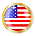 usa button vector image