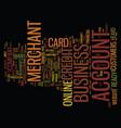 your online business merchant account text vector image vector image