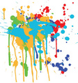 ink splashes vector image