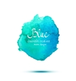 Blue watercolor banner vector image