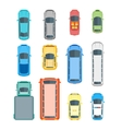 Cars Top View Set vector image