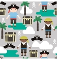 Seamless pattern with pirates Kids fabric texture vector image
