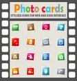 home appliances icon set vector image
