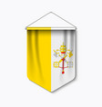 3d realistic pennant with flag vatican city