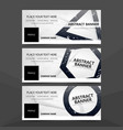 abstract triangle hexagon circle grunge banner vector image