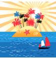 an island paradise vector image vector image