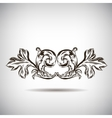 Antique vintage floral ornament on white vector image vector image