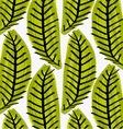 Artistic color brushed green leaves vector image