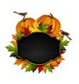 autumn chalkboard signboard vector image vector image