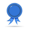 award blue ribbon vector image