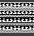 black and white ethnic pattern of triangles vector image vector image
