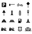 black road icon set vector image vector image