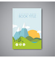 book cover design template with flat landscape vector image