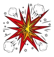 boom comic pop art vector image vector image
