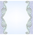 border with diamonds vector image vector image