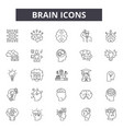 brain line icons for web and mobile design vector image vector image