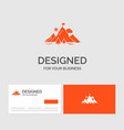 business logo template for achievement flag vector image