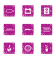 cab icons set grunge style vector image vector image