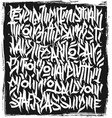 calligraphy abstract graffiti lettering grunge vector image vector image