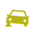car parking sign yellow icon with square vector image